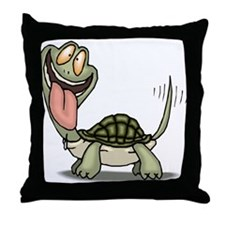 Funny Turtle Throw Pillow