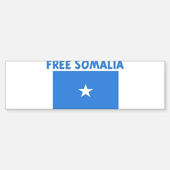 FREE SOMALIA Bumper Car Car Sticker