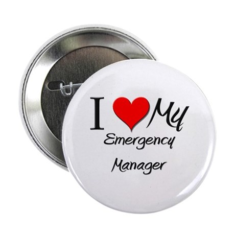 """I Heart My Emergency Manager 2.25"""" Button"""