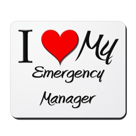 I Heart My Emergency Manager Mousepad