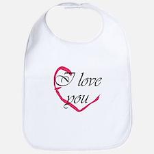 I love you Heart Bib