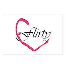 Flirty Heart Postcards (Package of 8)