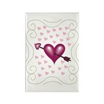 Pretty Hearts Rectangle Magnet (100 pack)