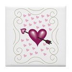 Pretty Hearts Tile Coaster