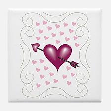 Pretty Hearts Tile Coaster
