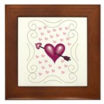 Pretty Hearts Framed Tile