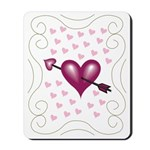 Pretty Hearts Mousepad