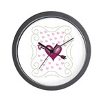 Pretty Hearts Wall Clock
