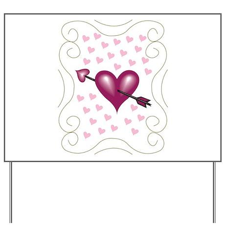 Pretty Hearts Yard Sign