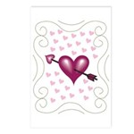 Pretty Hearts Postcards (Package of 8)