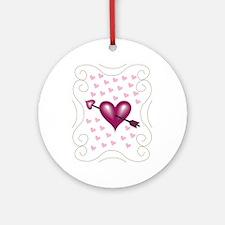 Pretty Hearts Ornament (Round)