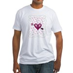 Pretty Hearts Fitted T-Shirt