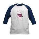 Pretty Hearts Kids Baseball Jersey