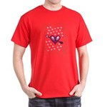 Pretty Hearts Dark T-Shirt