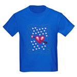 Pretty Hearts Kids Dark T-Shirt