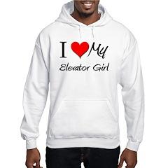 I Heart My Elevator Girl Hoodie