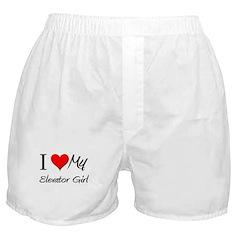 I Heart My Elevator Girl Boxer Shorts