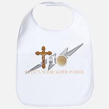 Catholic superpower Baby Bib