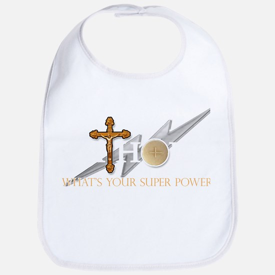 Catholic superpower Baby Bib