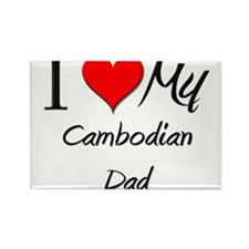 I Love My Cambodian Dad Rectangle Magnet (10 pack)