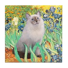 Irises/ Ragdoll Tile Coaster