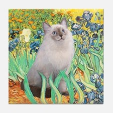 Irises/ Ragdoll Tile Coaster