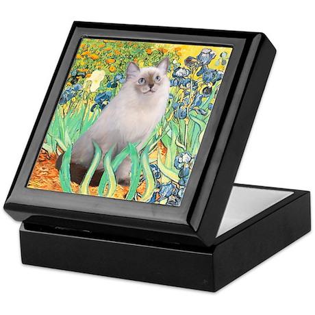 Irises/ Ragdoll Keepsake Box