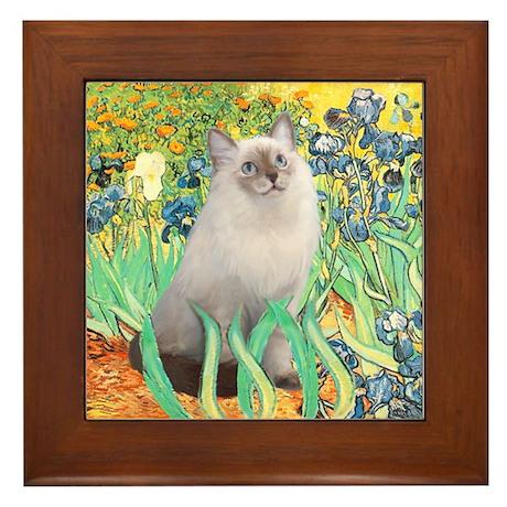 Irises/ Ragdoll Framed Tile
