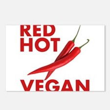 Red Hot Vegan Postcards (Package of 8)
