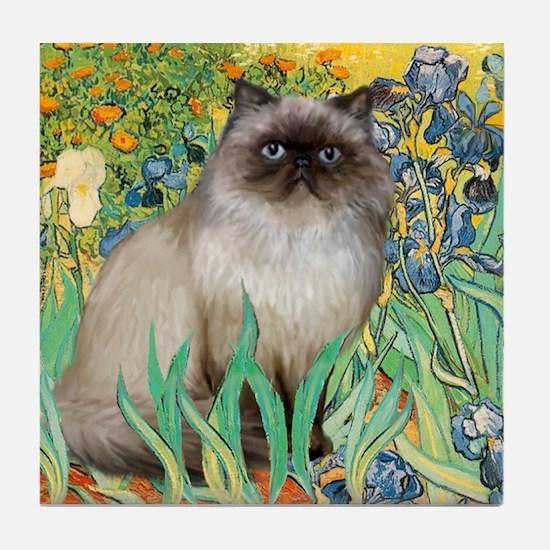 Irises / Himalayan Tile Coaster