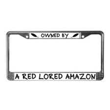 Owned by a Red Lored Amazon License Plate Frame