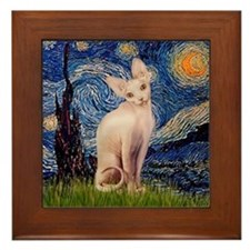 Starry Night / Sphynx Framed Tile