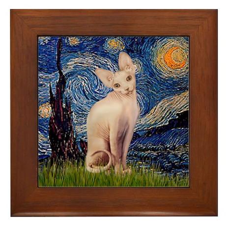 Starry Night / Sphynx Framed Tile