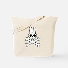 White Bunny Rabbit Skull Tote Bag