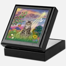 Cloud Star / Tiger Cat Keepsake Box