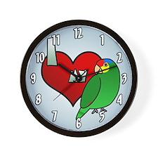 Love Red Lored Amazon Clock