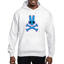 Blue Pink Bunny Rabbit Skull Hoodie