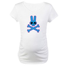 Blue Pink Bunny Rabbit Skull Shirt