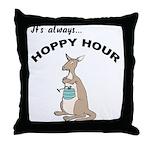Hoppy Hour Kangaroo Throw Pillow