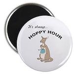 Hoppy Hour Kangaroo Magnet