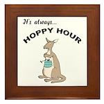 Hoppy Hour Kangaroo Framed Tile