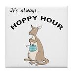 Hoppy Hour Kangaroo Tile Coaster