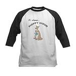 Hoppy Hour Kangaroo Kids Baseball Jersey