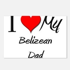 I Love My Belizean Dad Postcards (Package of 8)