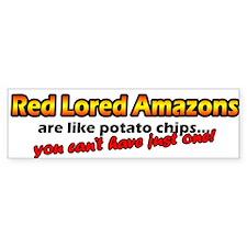 Potato Chips Red Lored Amazon Bumper Bumper Sticker