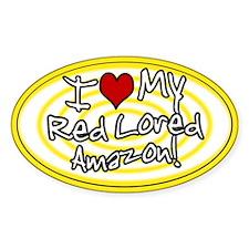 Hypno I Love My Red Lored Amazon Sticker Ylw