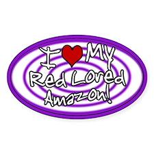 Hypno I Love My Red Lored Amazon Sticker Purp