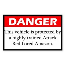 Danger Attack Red Lored Amazon Decal