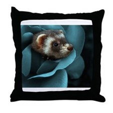 Cute Ferrets Throw Pillow
