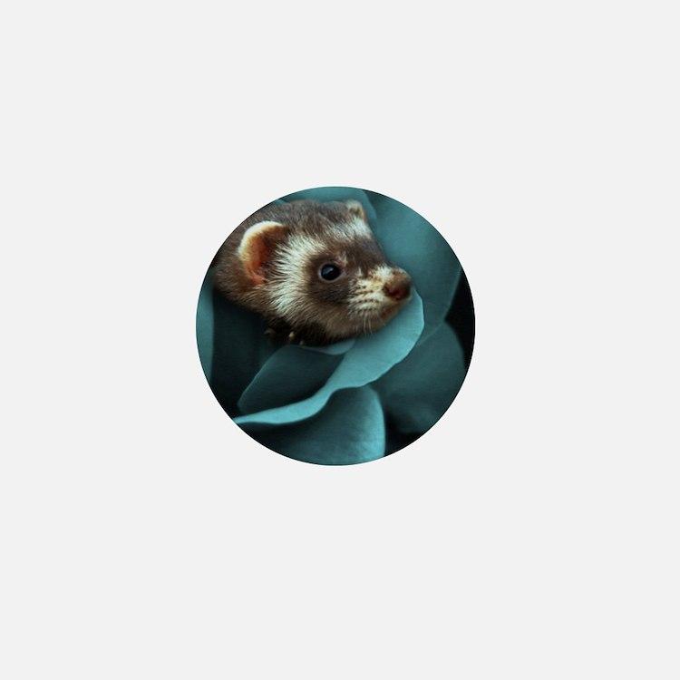 Cute Ferrets Mini Button